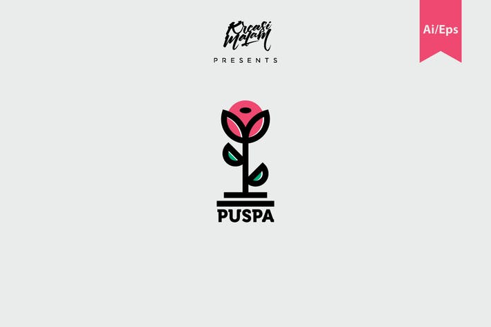 Thumbnail for Puspa Logo Template