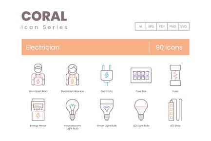 90 Icons für Elektriker