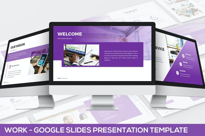 Thumbnail for Work - Google Slides Presentation Template