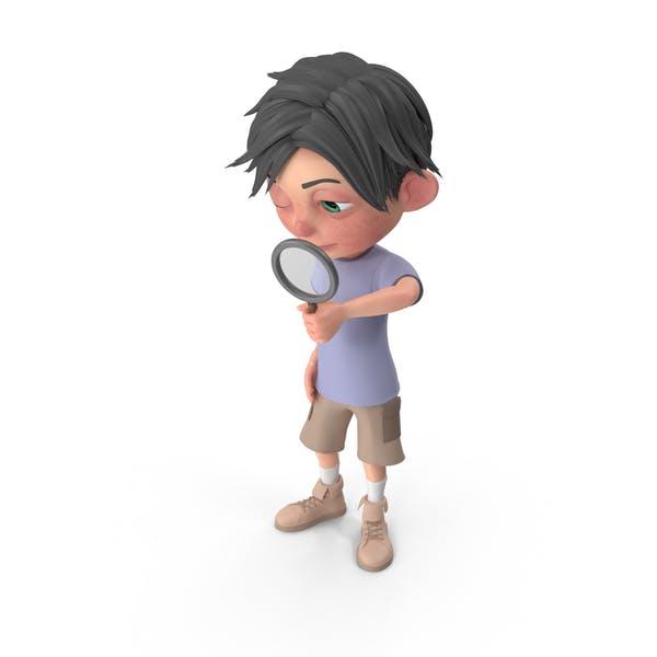 Cartoon Boy Jack Searching