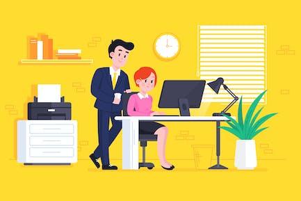 Escena del proceso de Trabajo de oficina
