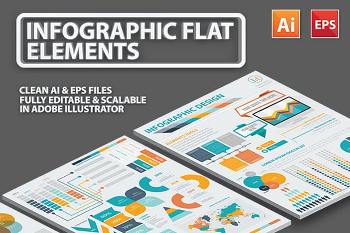 Thumbnail for Infographic Flat Elements Design 2