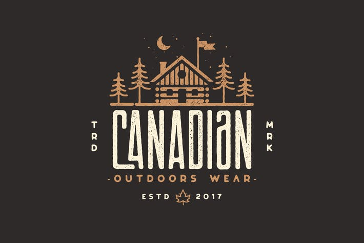Thumbnail for Canadian Cabin - Outdoor, adventure, camping Logo