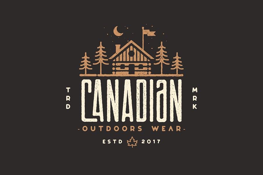 Canadian Cabin - Outdoor, adventure, camping Logo