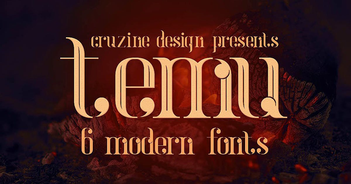 temu - Modern Font by cruzine