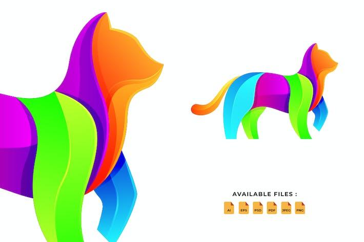 Cat Gradient Logo