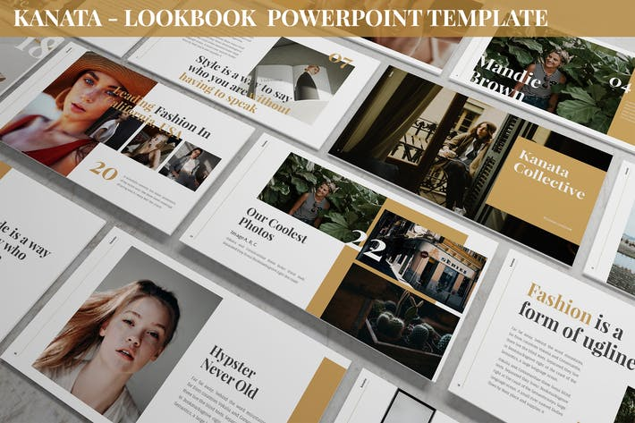 Каната - Шаблон Powerpoint «Лукбук»