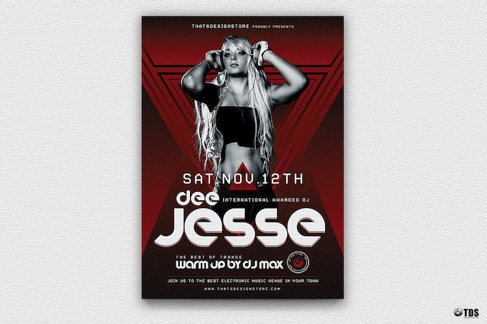 Thumbnail for DJ Session Flyer Template V5
