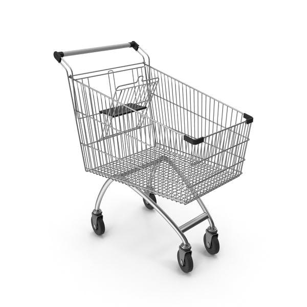 Supermarket Сart With Black Plastic