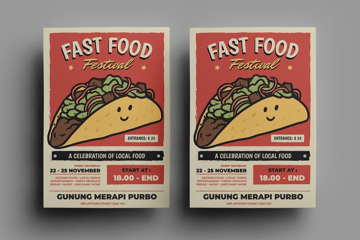 Thumbnail for Fast Food Flyer Design.17
