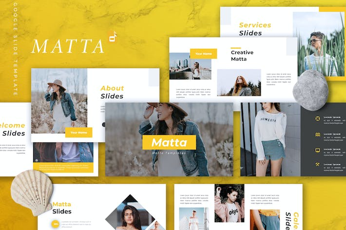 Cover Image For MATTA - Creative Google Slides Template