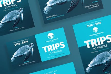 Travel Agency Flyer and Poster Template