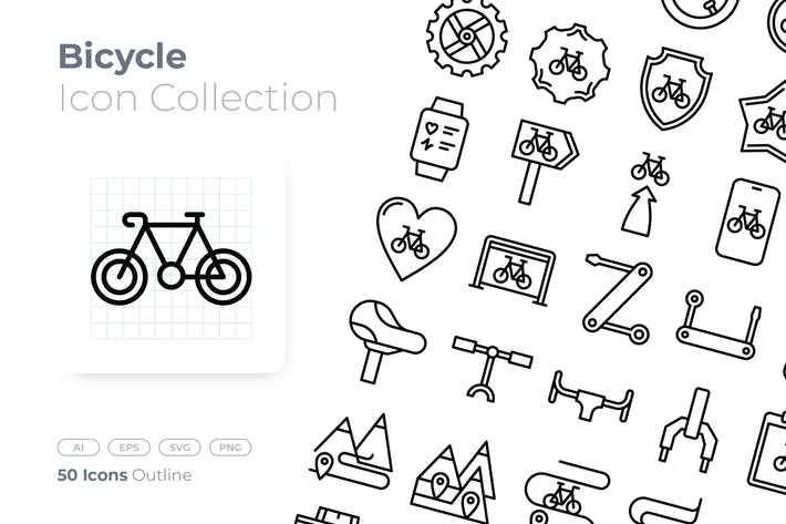 Thumbnail for Bicycle Outline Icon
