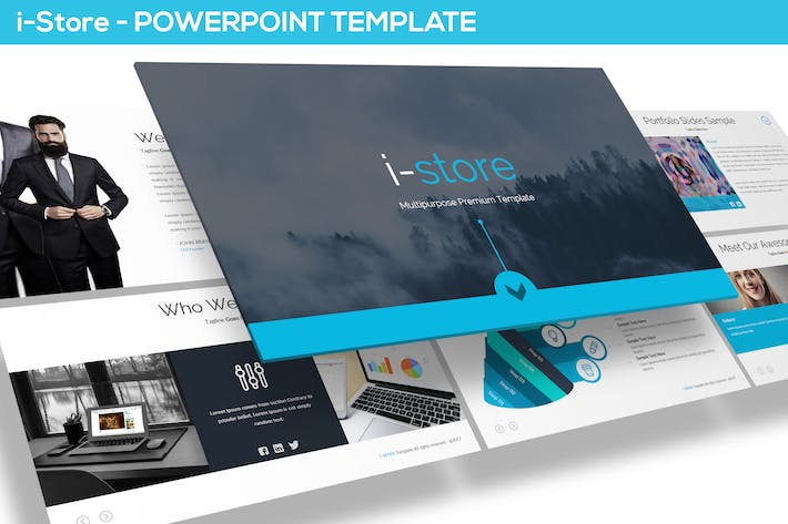 Thumbnail for i-Store - Powerpoint Template