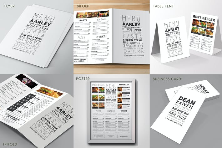 Thumbnail for Simple Typography Menu Pack