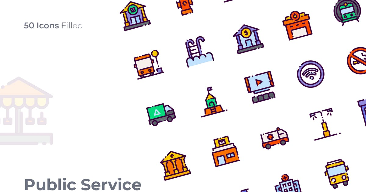 Download Public Service Filled Icon by GoodWare_Std