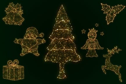 Glittering Christmas Elements