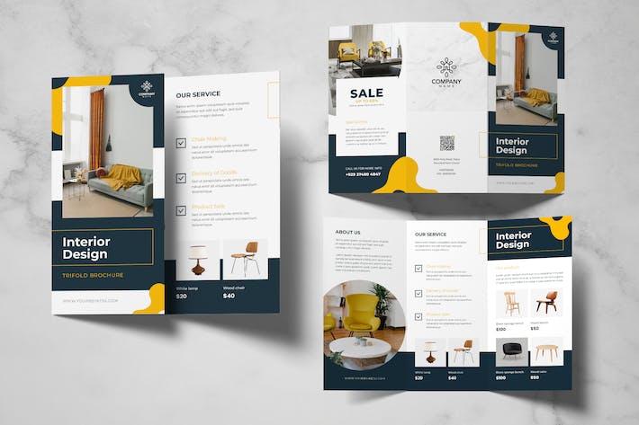 Interior Design Trifold Brochure