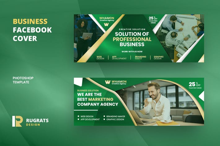 Thumbnail for Business R7 Facebook Cover Template