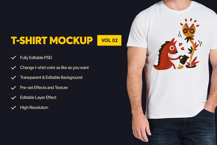Thumbnail for T-shirt Mockup Vol 02