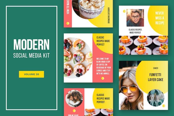 Cover Image For Modern Social Media Kit (Vol. 20)