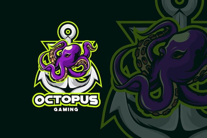 Thumbnail for OCTOPUS MASCOT LOGO TEMPLATE