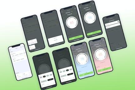 Temperature Smarthome Mobile UI - FP