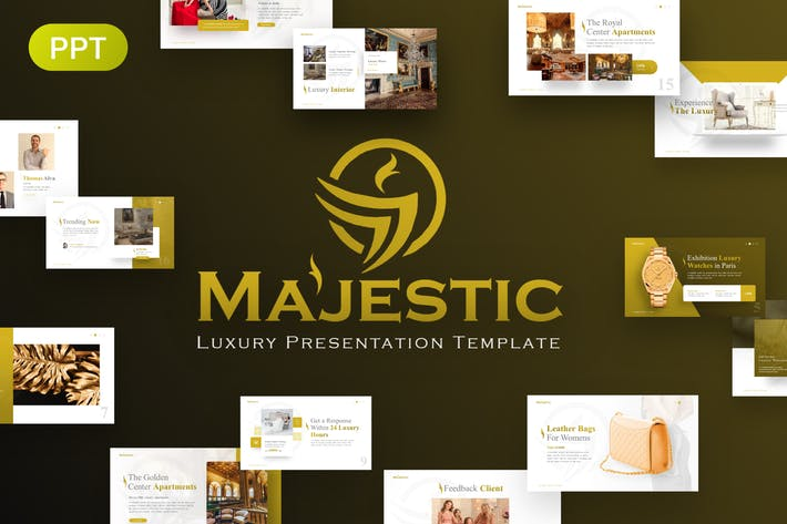 Thumbnail for Majestic Luxury PowerPoint Template
