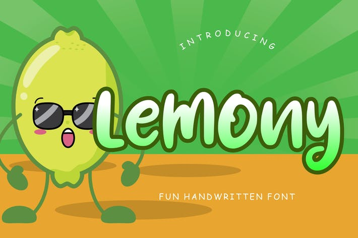 Thumbnail for Lemony Fun Handwritten Font