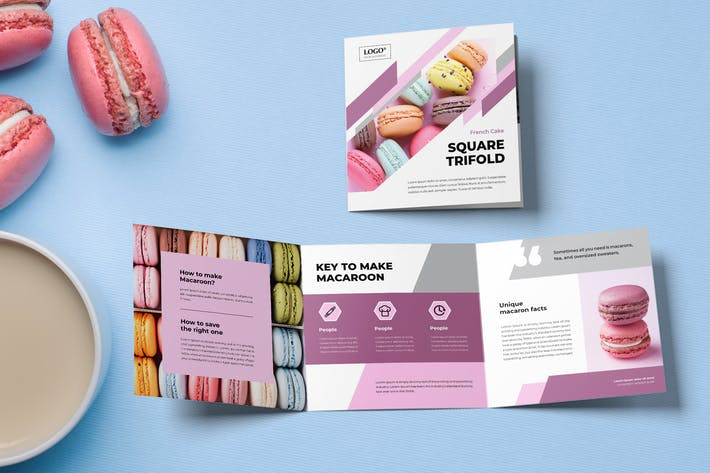Cover Image For Square Trifold Cookies Brochure