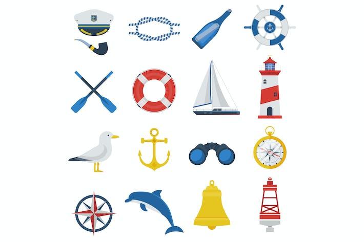 Thumbnail for Sea Travel Icon Set