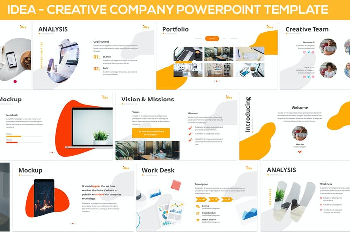 Thumbnail for iDea - Creative Company Powerpoint Template