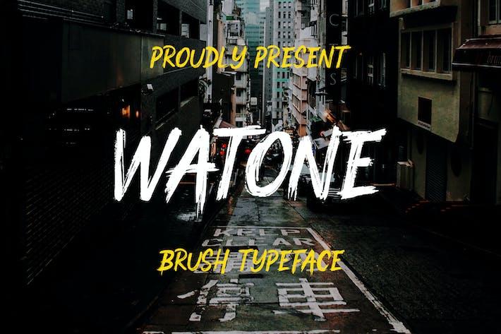 Watone - Tipo de letra de cepillo