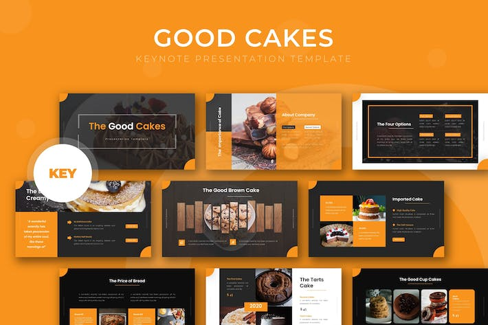Cover Image For Good Cakes - Keynote Template
