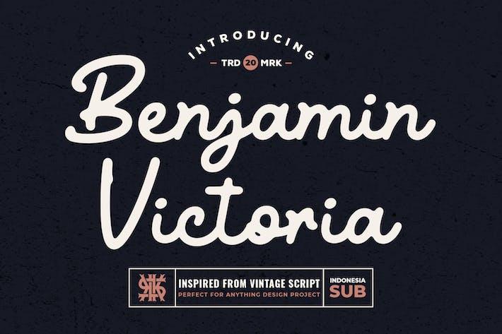 Thumbnail for Benjamin Victoria - Fuente de escritura retro