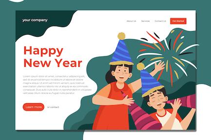 Celebrating New Year - Landing Page