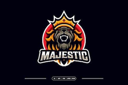 Royal Lion Mascot Logo Template