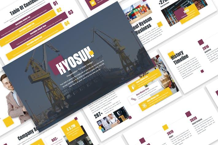 Thumbnail for Hyosun - Logistic Template Prensentation