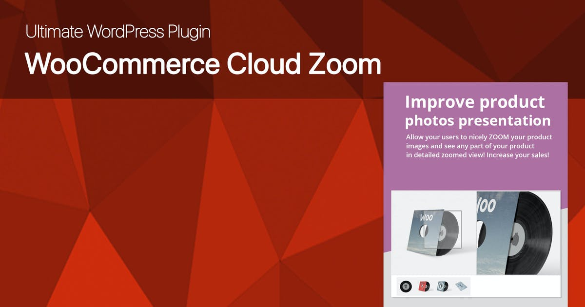 Download Ultimate WooCommerce CloudZoom for Product Images by dedalx