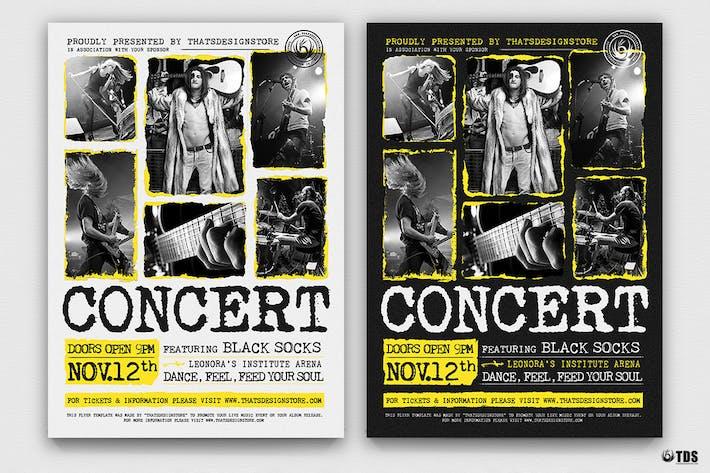 Thumbnail for Live Concert Flyer Template V15
