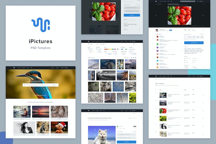 Thumbnail for iPictures Stock Image Website PSD Template