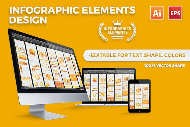 Yellow Infographics - product preview 7