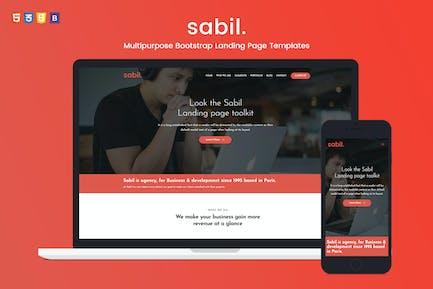 Sabil - Multipurpose Landing Page Templates