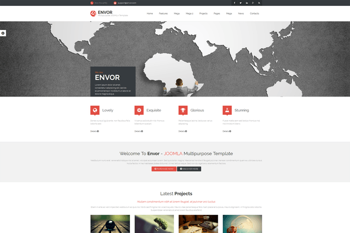 Thumbnail for Envor — Fully Multipurpose Joomla Template