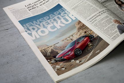 Newspaper Advertise Mockup