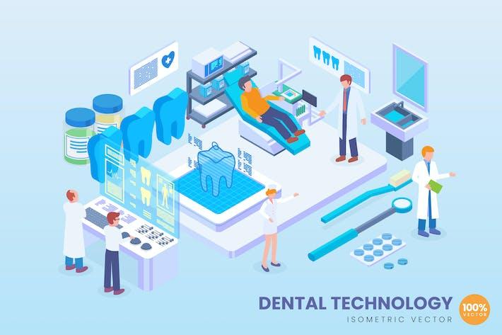 Thumbnail for Концепция Вектор изометрической стоматологической технологии