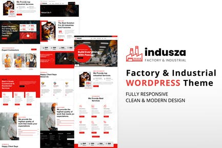 Indusza - Industrial & Factory WordPress