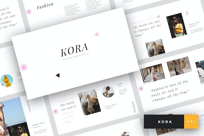 Thumbnail for Кора - Мода Google Слайды Шаблон