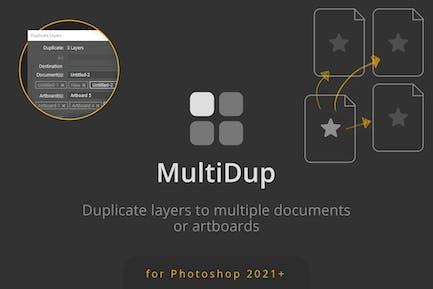 MultiDup - Batch Duplication in Photoshop