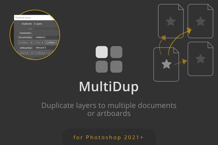 MultiDup - Batch Duplication in Photoshop